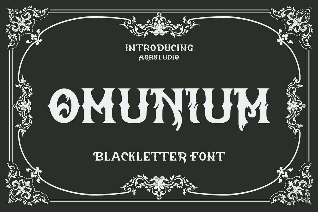 Omunium - Font Blackletter Band Metal