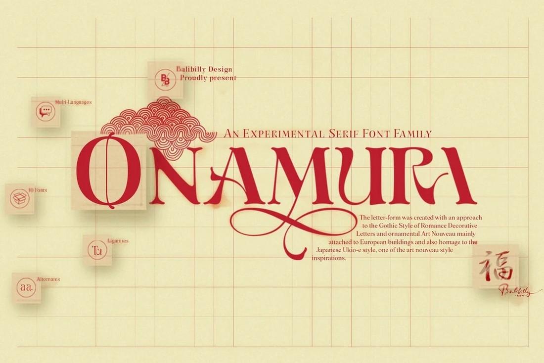 Onamura - Font Art Nouveau Gratis