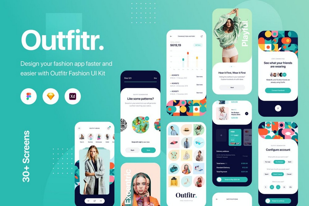 Outfitr - Fashion App Figma UI Kit
