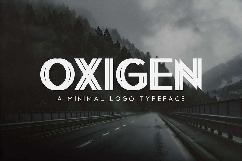 Oxegen - Minimal Logo Typeface