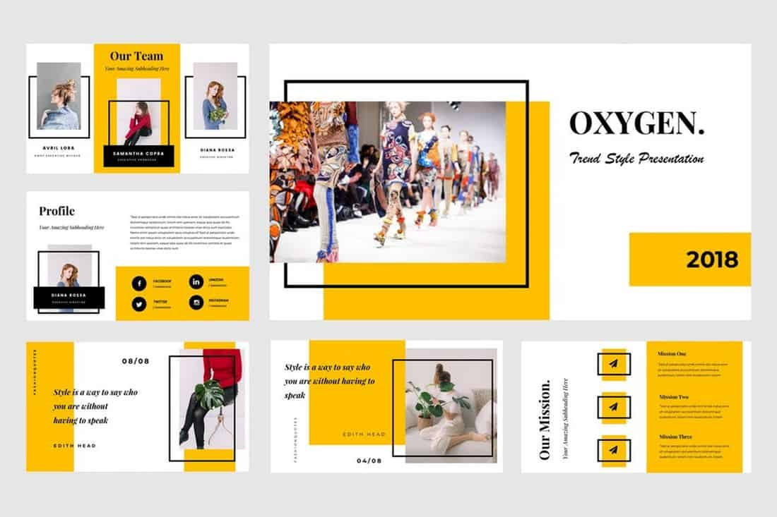 Oxygen - Powerpoint Presentation Template