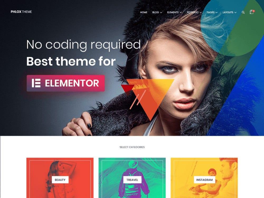 PHLOX - Free WordPress Photography Theme