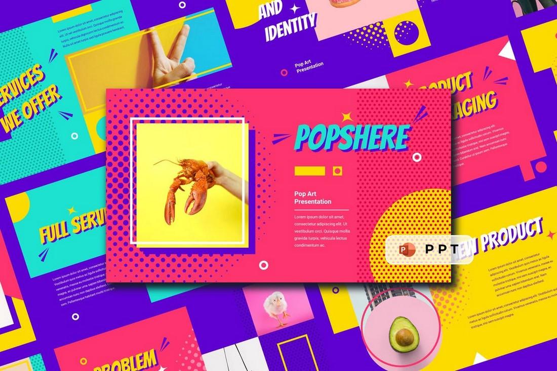 POPSPHERE - Templat Powerpoint Seni Pop