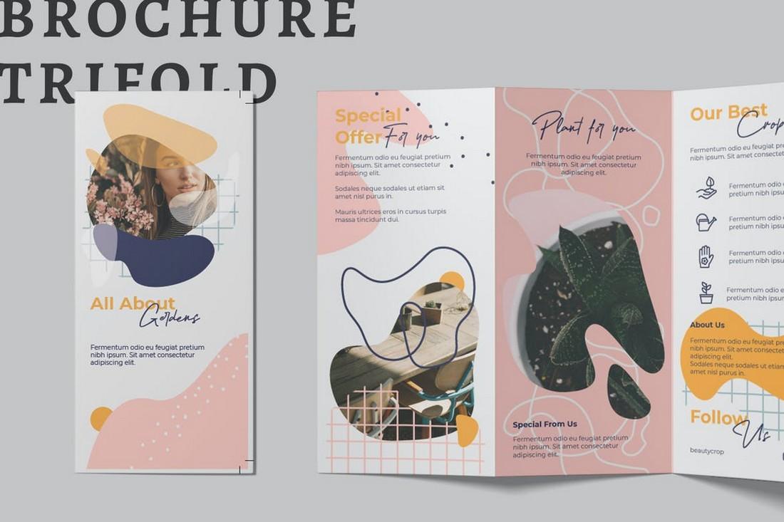 Pastel Color Tri-Fold Brochure template