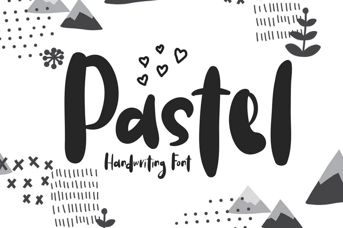 Pastel - Font Procreate Tulisan Tangan