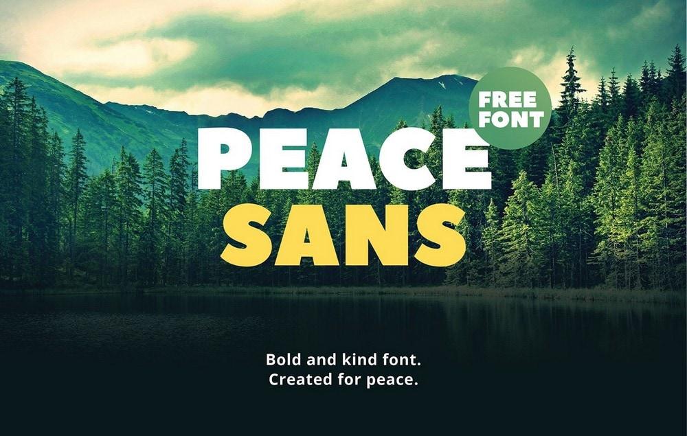 Peace Sans - Free Bold Title Font