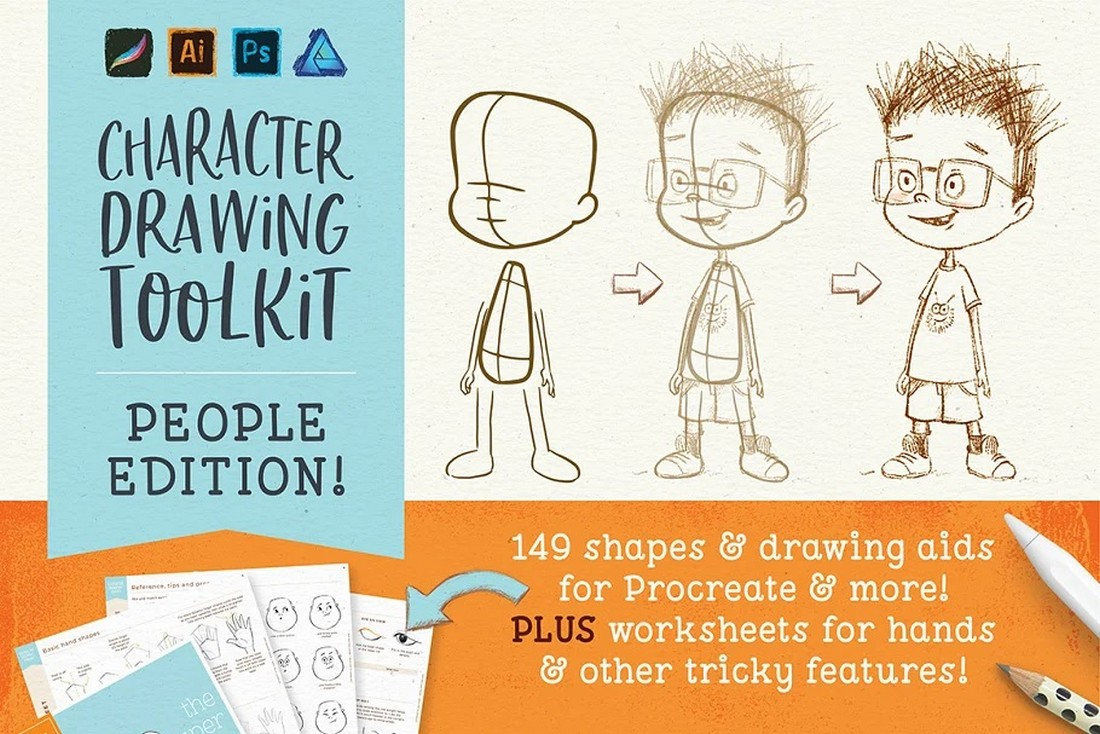 People Drawing Toolkit for Procreate