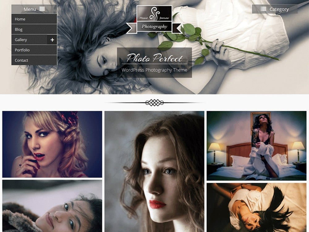 Photo Perfect - Free WordPress Photography Theme