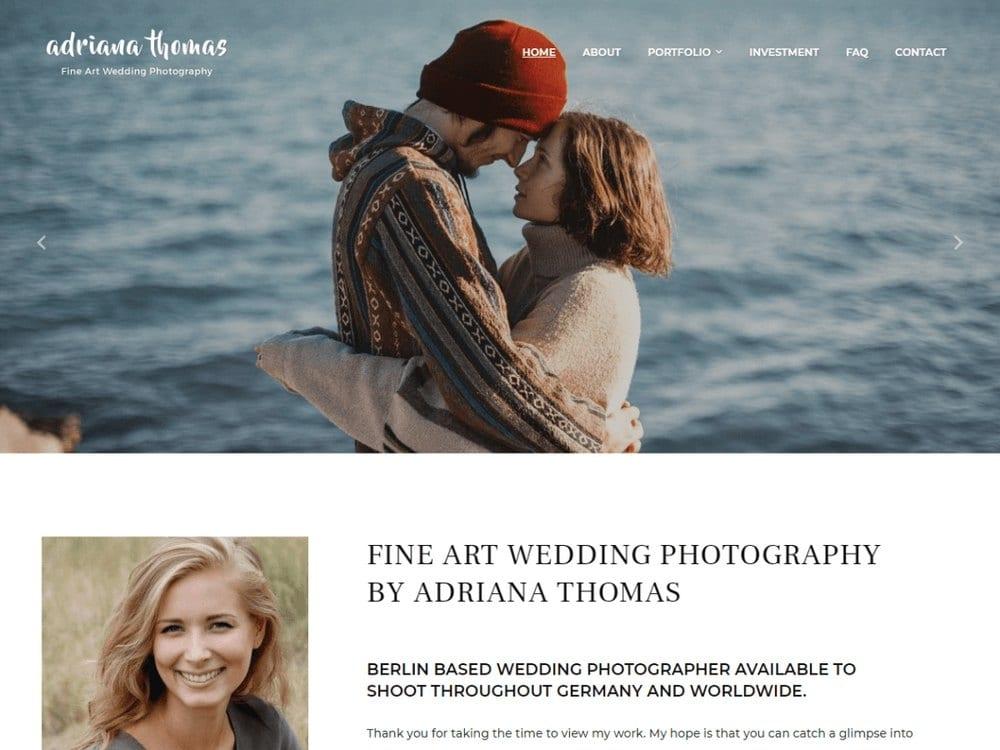 PhotoFrame - Tema Fotografi WordPress Gratis