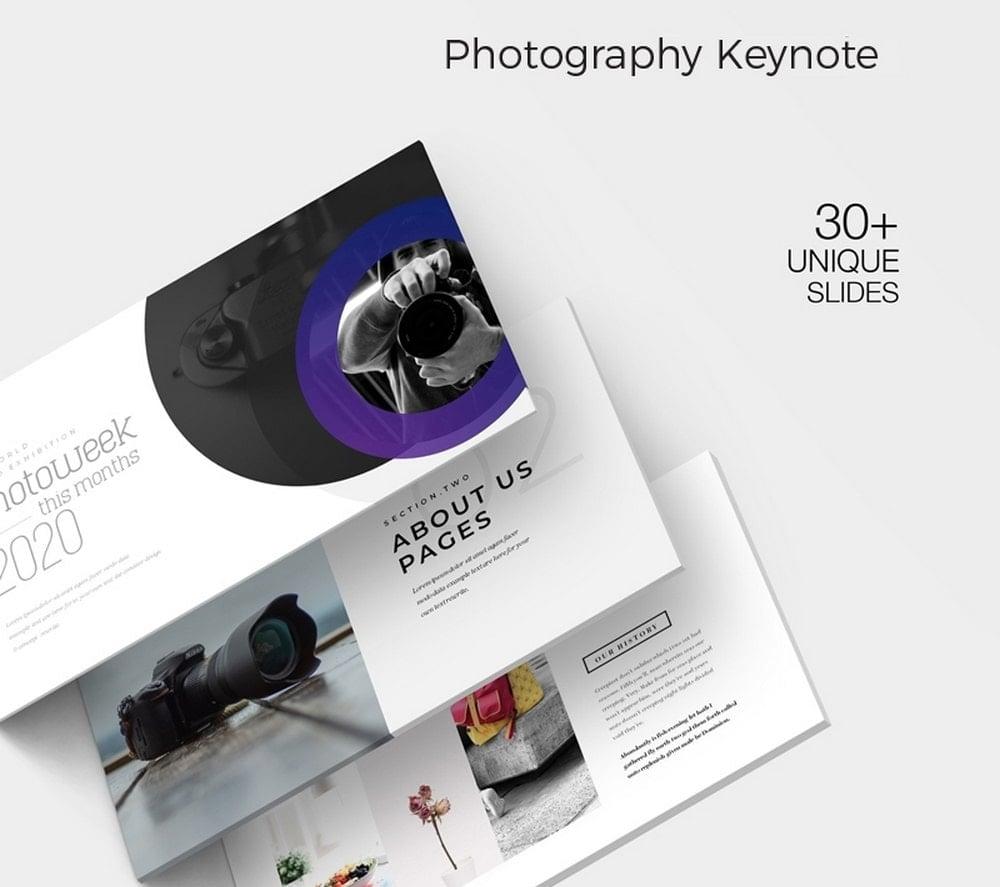 Fotografi - Template Keynote Gratis