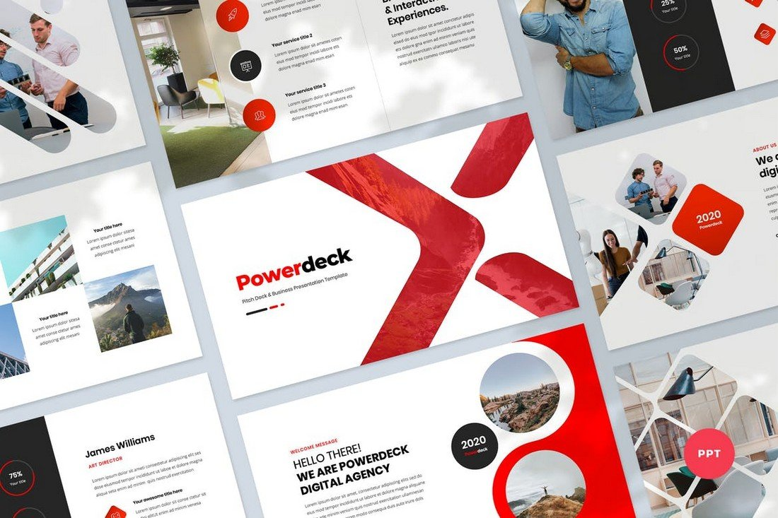 Pitch Deck & Business Powerpoint Template