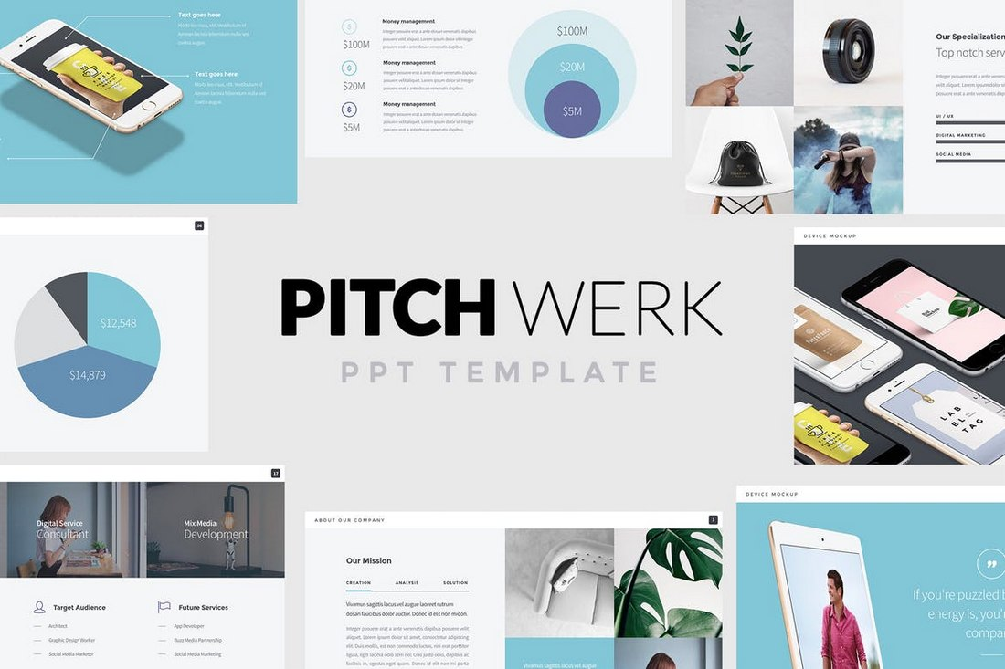 Pitch Werk - Elegant PowerPoint Pitch Deck