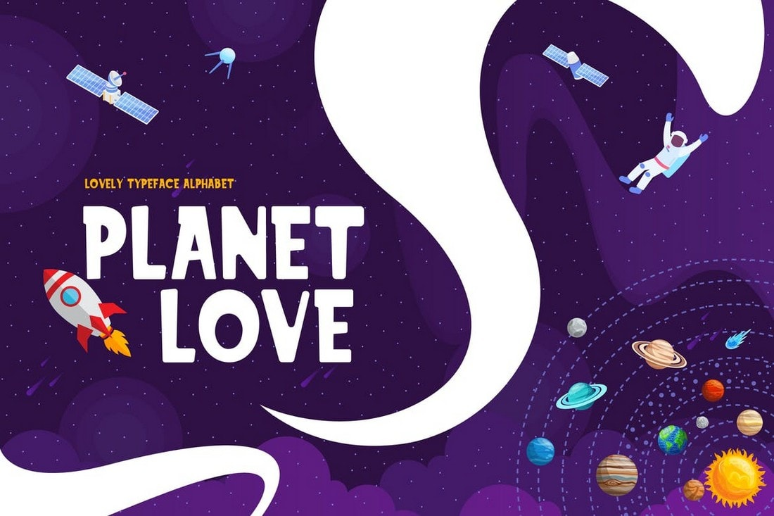 Planet Love - Fun & Playful Font
