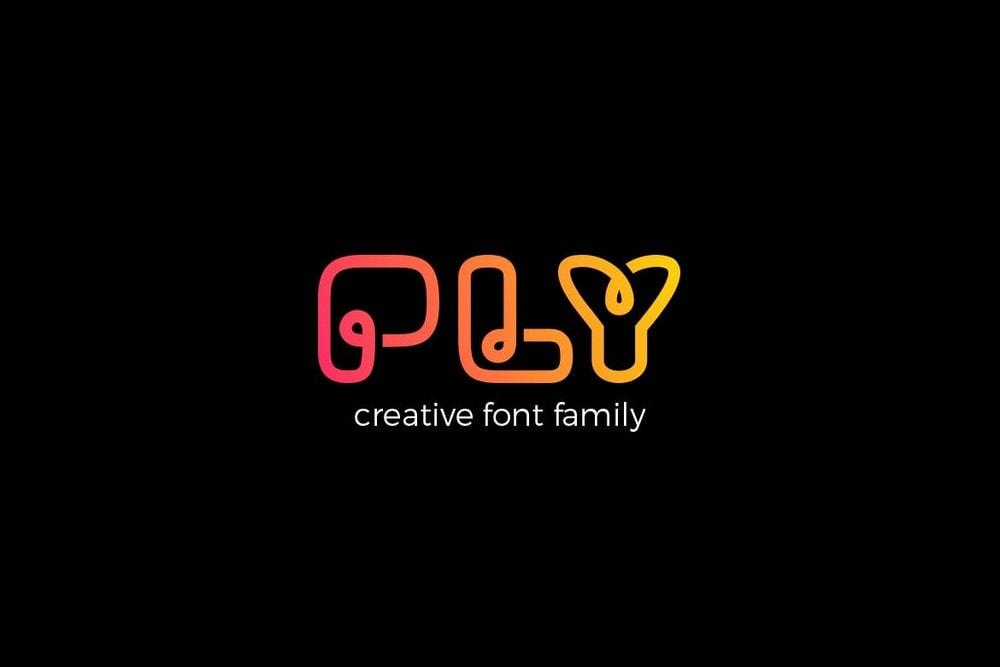 Ply - Creative Logo Font Family