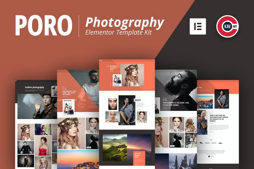 Poro - Photography Website Template Kit