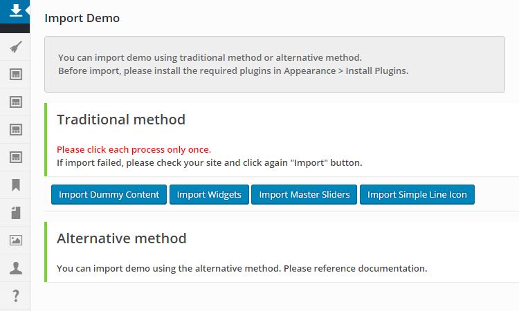 Demo Impor Ulasan Tema Porto WordPress
