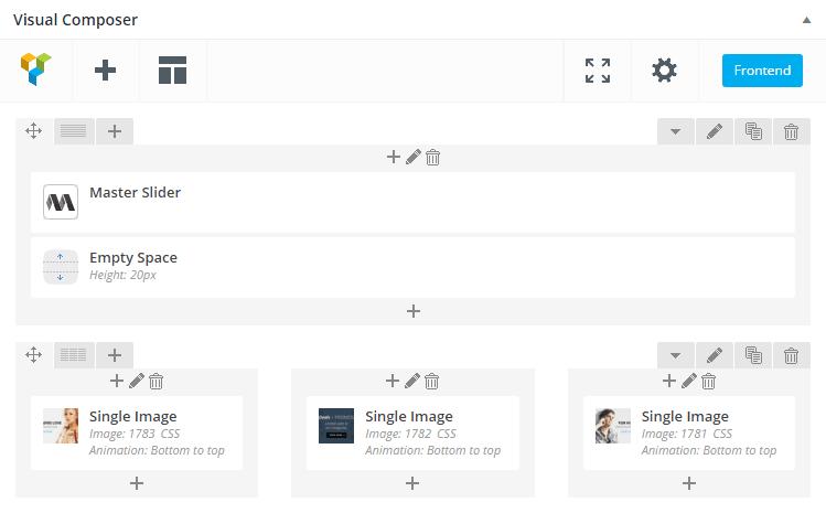 Ulasan Tema Porto WordPress VC Back-End