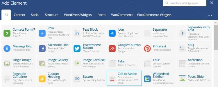 Tema Porto WordPress Ulasan VC Elements
