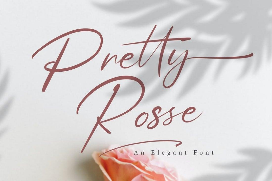 Pretty Rose - Signature Script Wedding Font