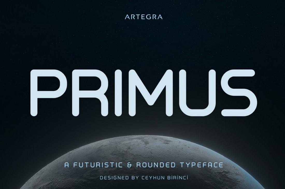 Primus - Font Geometris Gratis