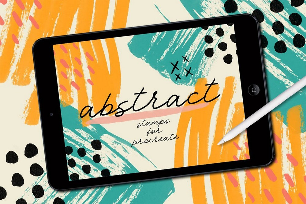 Procreate - Abstract Stamp Brushes