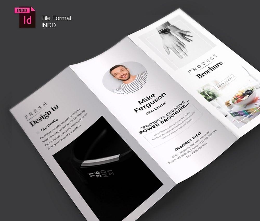 Product Brochure Trifold Template