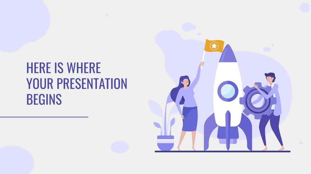 Purple Illustrations - Free Presentation Template
