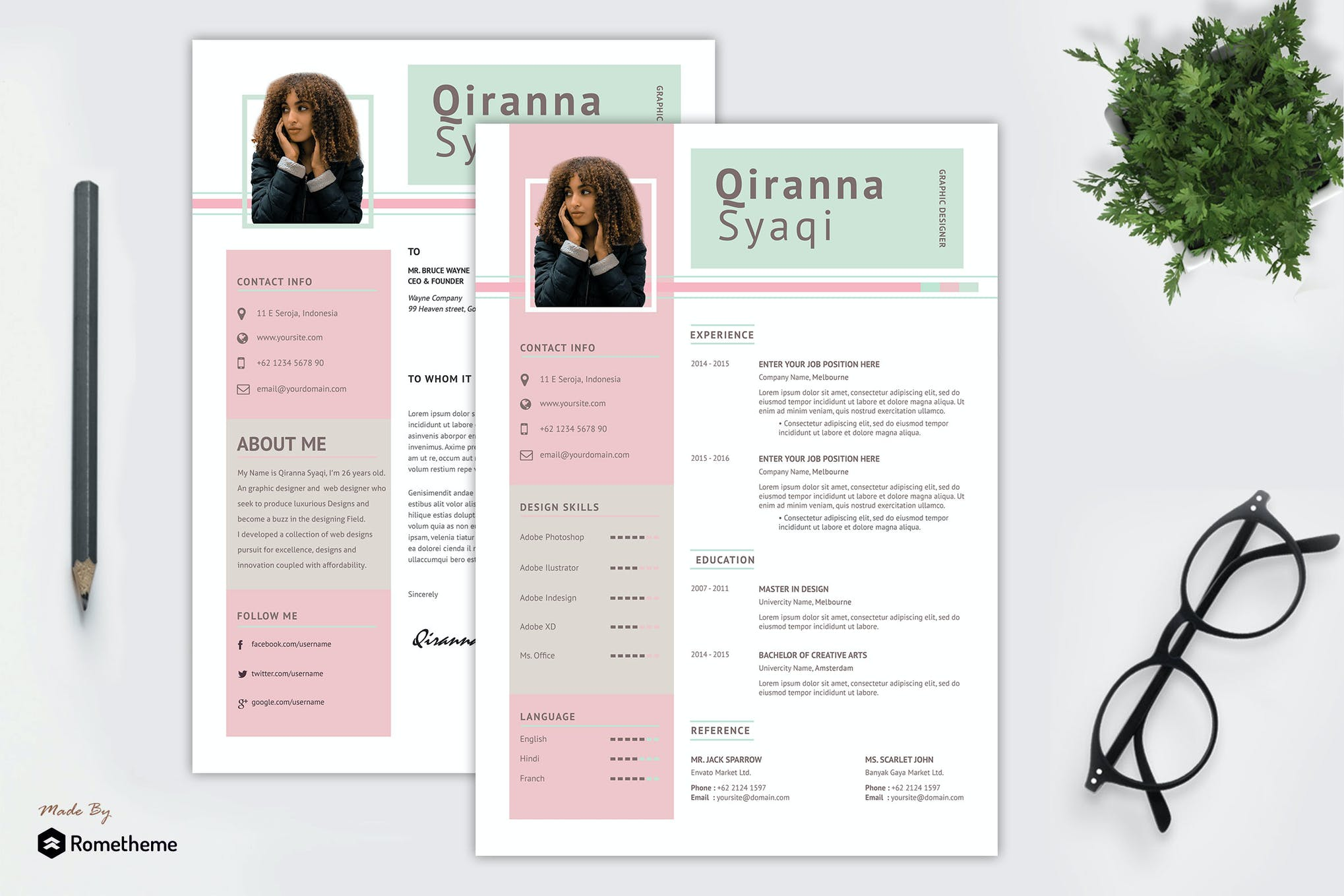 Qiranna Shaqi - Creative Resume Template