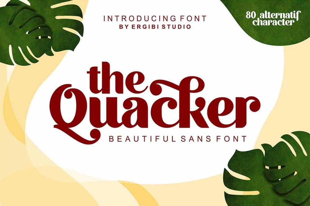 Quacker - Free Sans Serif Font