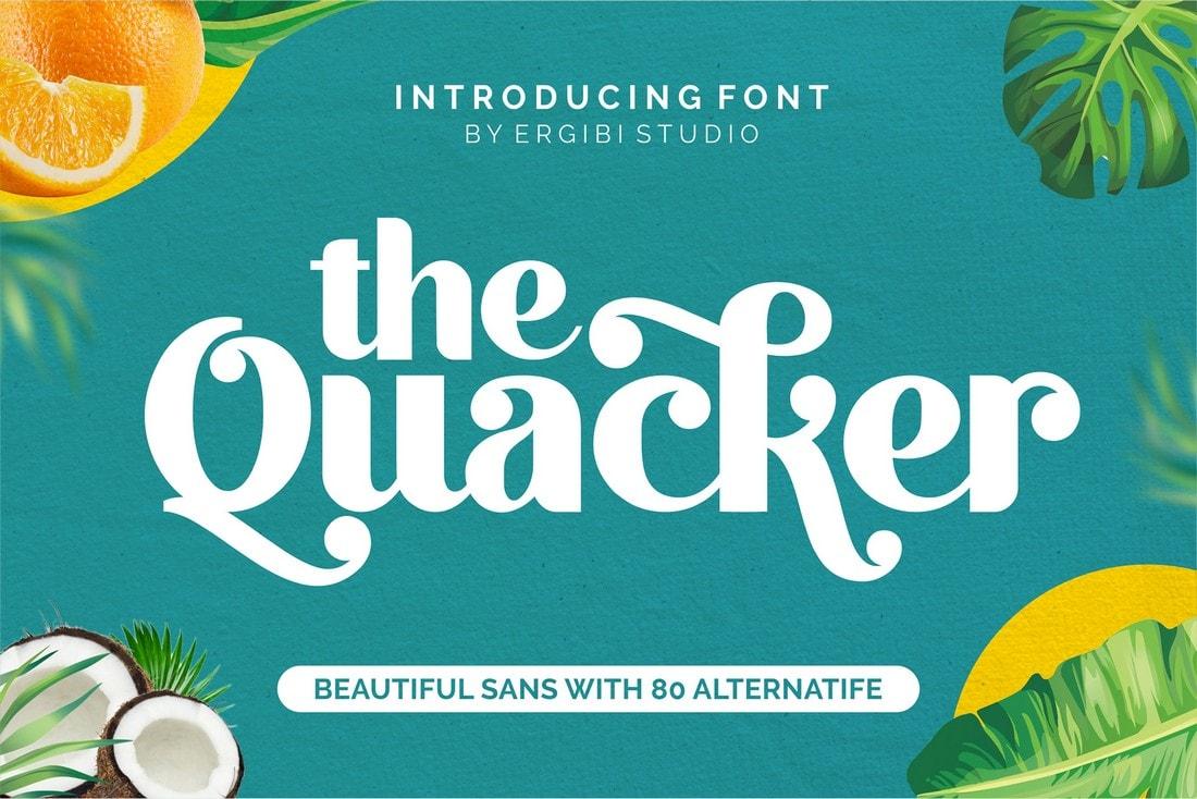 Quacker - Free Sans Serif Poster Font
