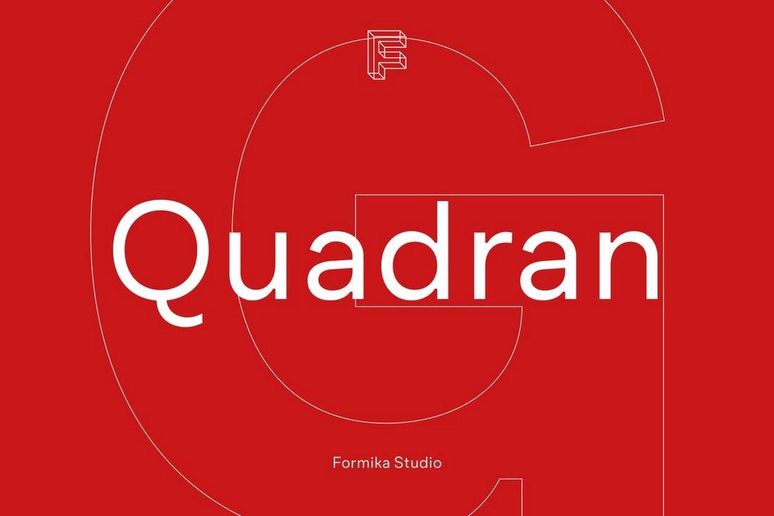 Quadran - Font Geometris Bersih