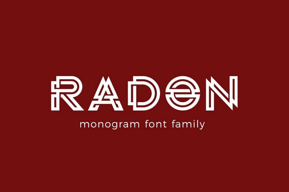 RADON - Monogram Logo Font
