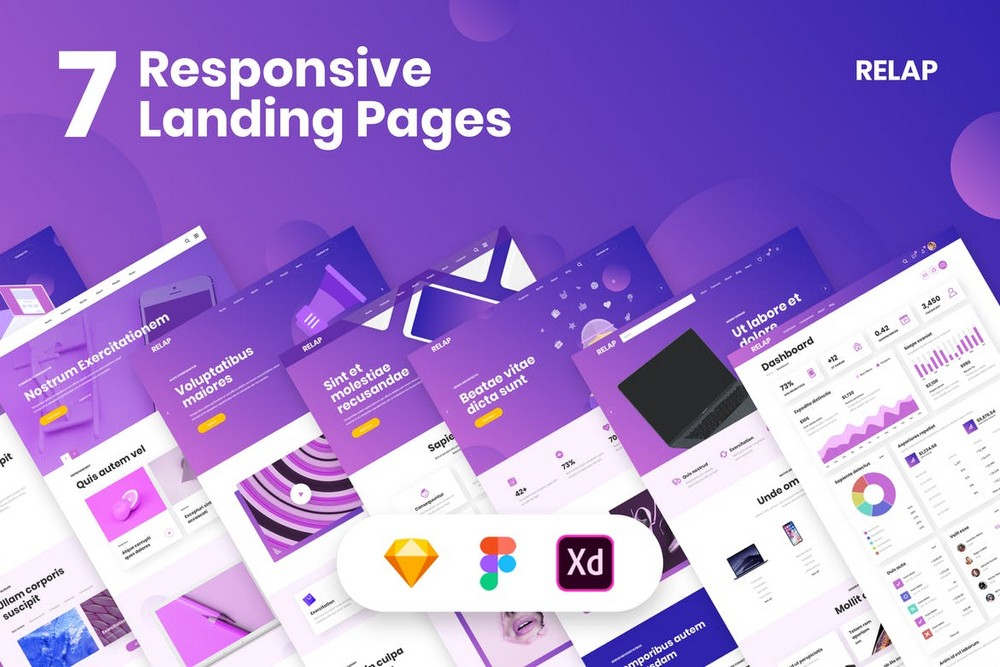 RELAP - Landing Pages Figma Templates