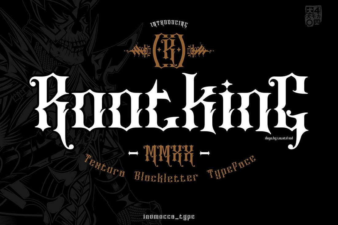 ROOTKING - Huruf Band Black Metal