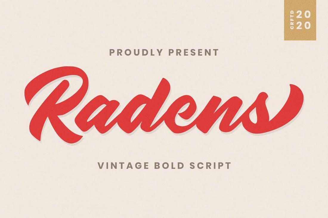 Radens - Vintage Bold Baseball Font