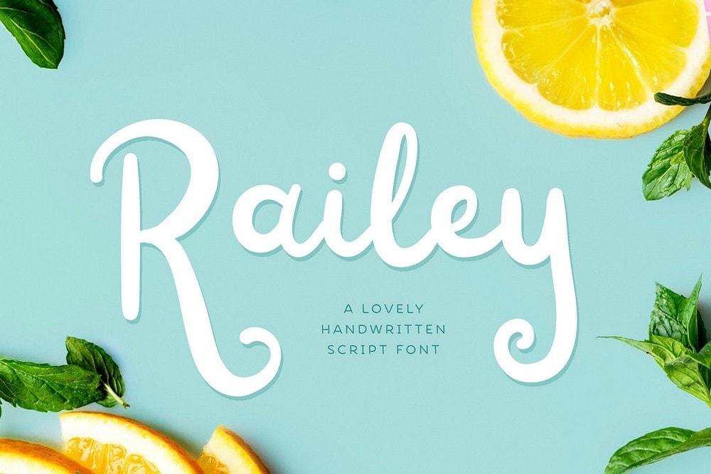 Railey - Free Handwritten Script Font
