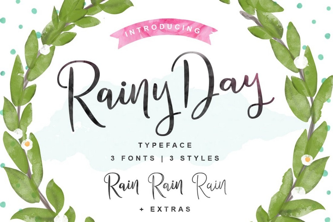 Rainy Day - Creative Handwriting Font
