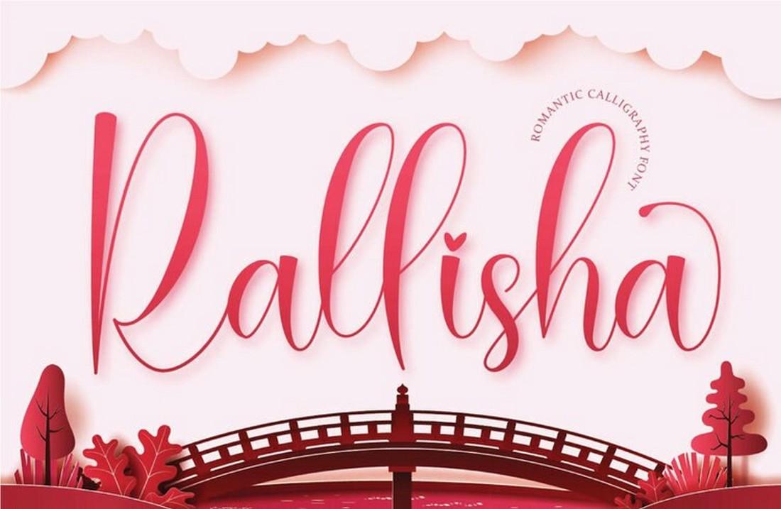 Rallisha - Free Wedding Script Font