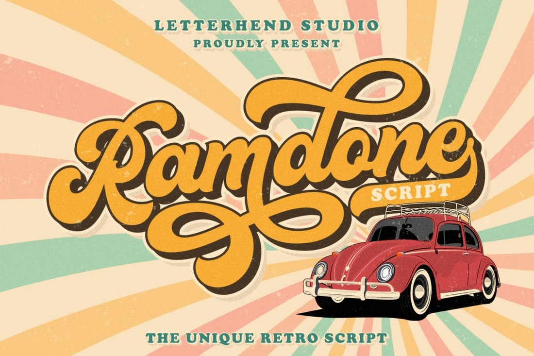 Ramdone - Retro Script Font