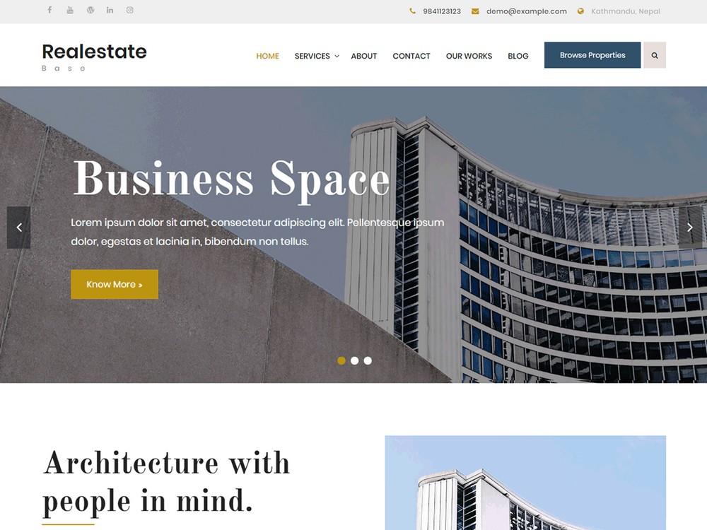 Realestate Base - Free WordPress Theme
