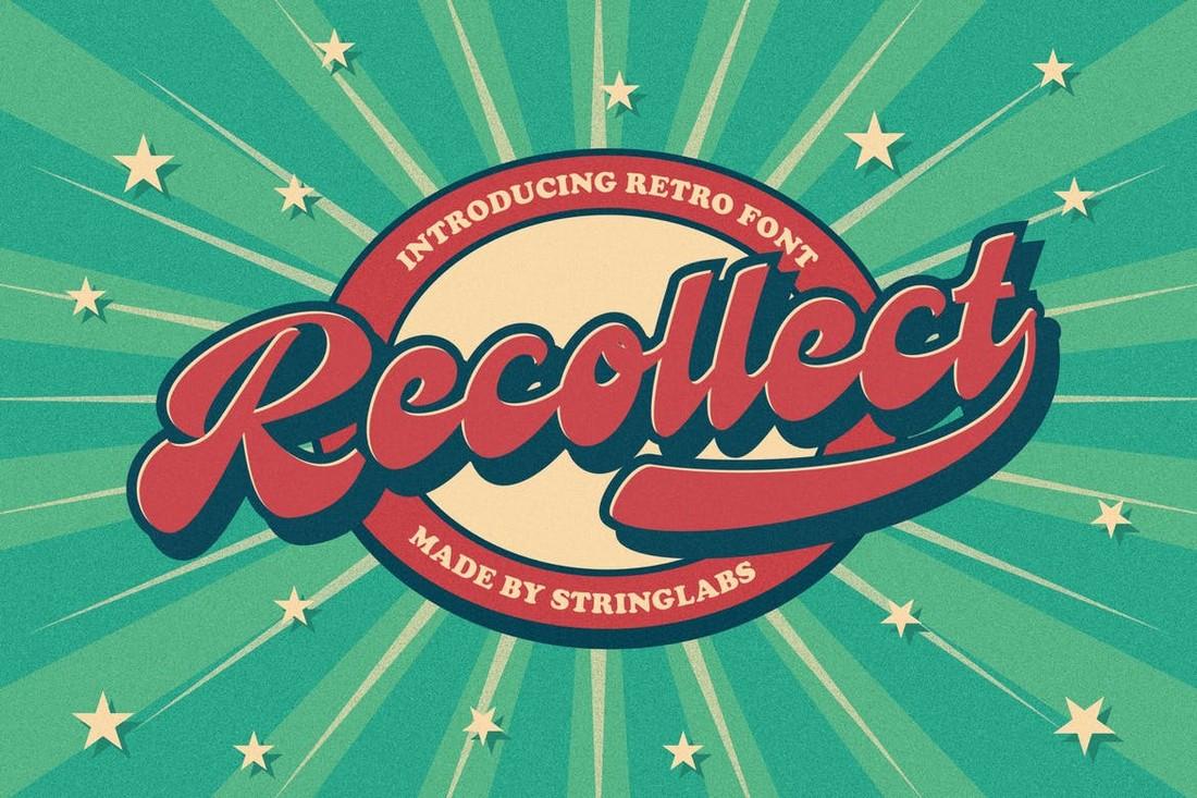 Recollect - Retro Bold Script Font
