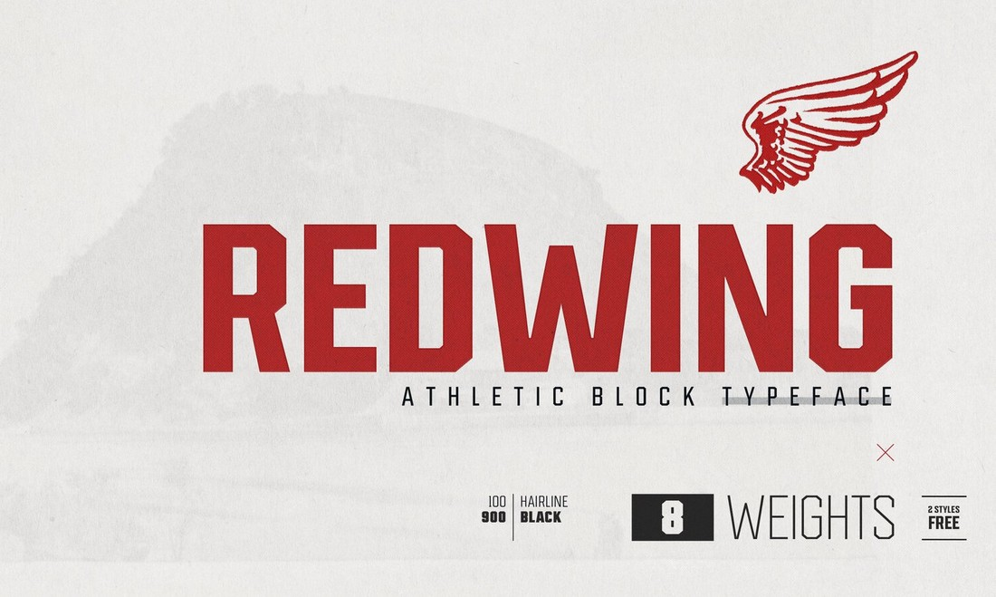Redwing - Free Athletic Retro Font