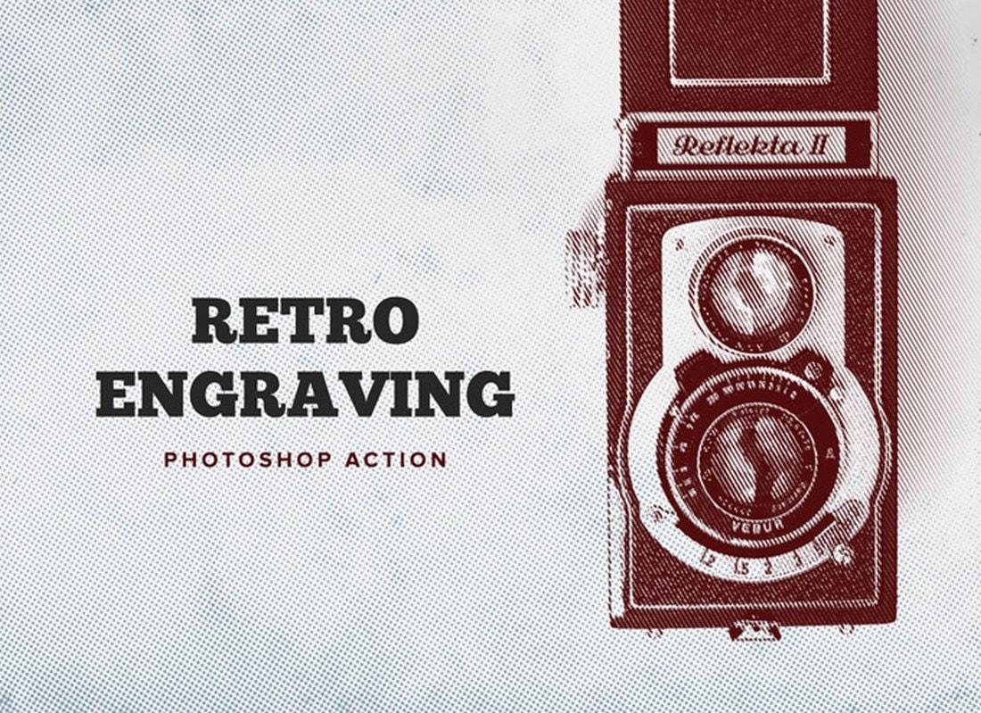Retro Engraving - Free Photoshop Action