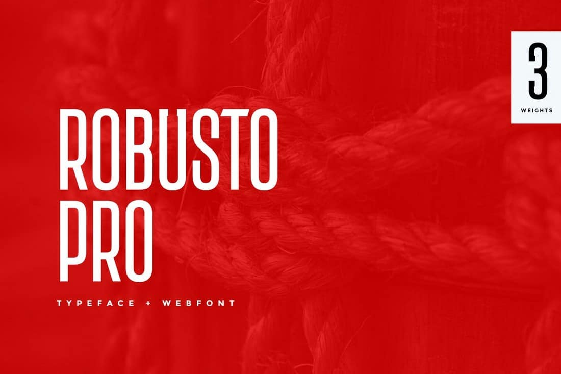 Robusto Pro - Modern Condensed Font