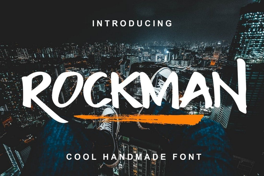 Rockman - Creative Brush Font