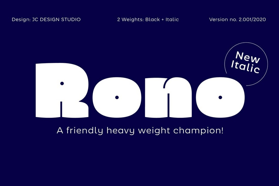 Rono - Font Cricut Tebal