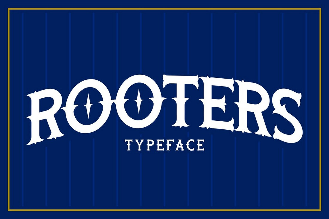 Rooters Pro - Classic Baseball Font