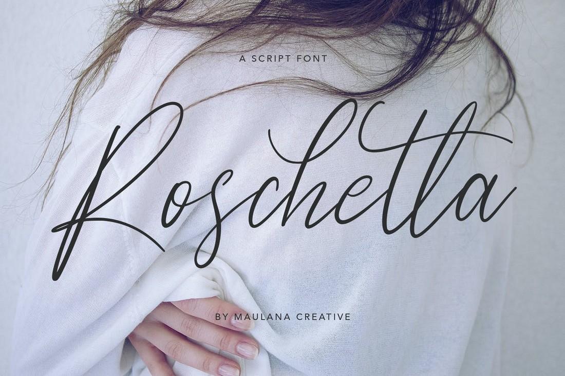 Roschetta - Font Tanda Tangan Kaligrafi Pernikahan