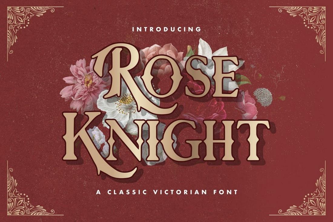 Rose Knight - Font Art Nouveau