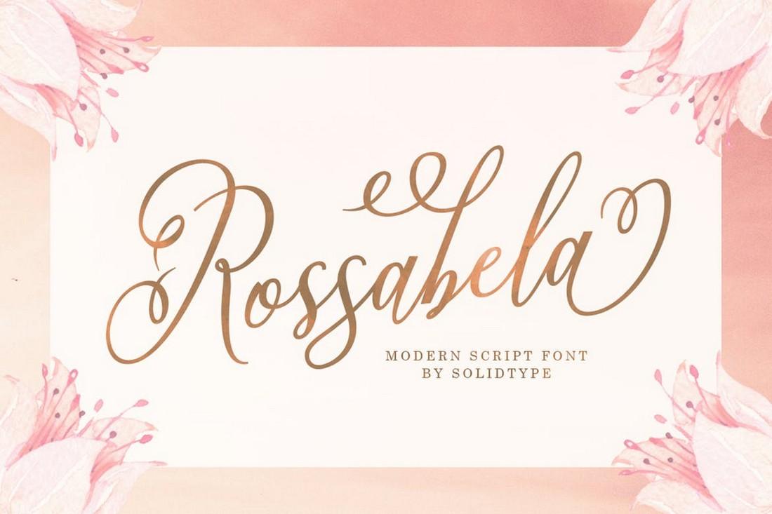 Rossabela Script - Font Naskah Pernikahan Kreatif